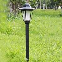 LED Solar Lamp Light Under Ground Lawn Lamp Post Outdoor Garden Lanterns Pillar Yard Garden Decoration Lighting White Light