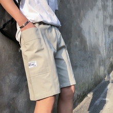 Men's outer wear shorts 19 summer new youth popular loose five points embroidery shorts personality youth casual men's clothing