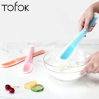 Tofok New Large Size Translucent Silicone Spatula Butter Scraper Heat-Resistant Cake Cream Knife Batter Mixer Kitchen Bakeware