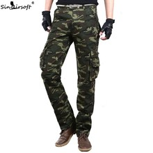Mens Baggy Tactical Camo Camouflage Pants Overalls Men Jogger Thick Warm Cargo Pants Casual Many Pockets Trouser Worker Male