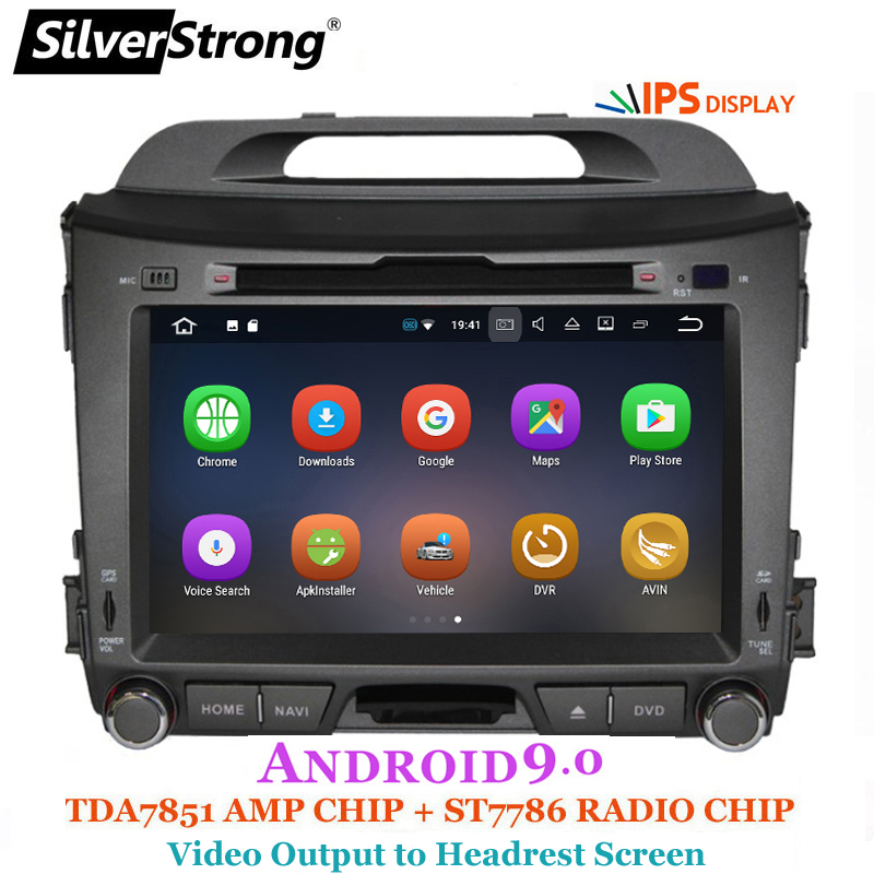 SilverStrong Car Multimedia IPS Android 9.0 for KIA Sportage3 Car DVD Radio Navigation 2din DVD Sportager GPS Navigation wifi-in Car Multimedia Player from Automobiles & Motorcycles    1
