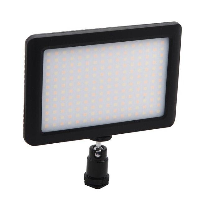 LED 一眼レフカメラビデオカメラ連続光、バッテリーと USB 充電器、キャリーケース写真写真ビデオスタジオ黒