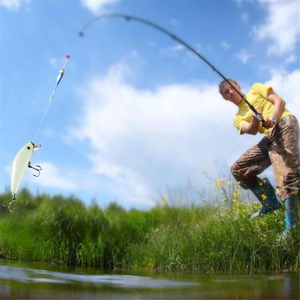 1pc 釣りルアー 3D 発光夜釣りミノールアー Isca 人工ワブラー餌ハード餌ルアーフックタックル魚ルアー