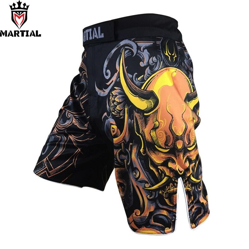 Marciales: Libra impreso diseño corto pantalones cortos mma lucha boxeo ropa muay tailandés corto bjj pantalones cortos de deporte