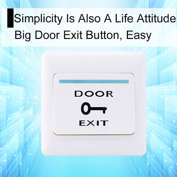 цена на Eseye Door Exit Release Button Push Switch For Access Control System Electric Door Lock NO COM Sensor Switch Access Push Button