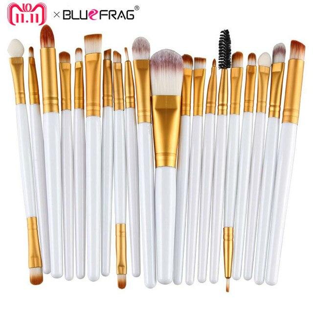 20 pcs Eye Makeup Brushes Set Eyeshadow Blending Pincel de Pó Fundação Eyeshadading Sobrancelha Delineador Lip Brush Tool Cosméticos