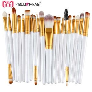20pcs Eye Makeup Brushes Set Eyeshadow Blending Brush Powder Foundation Eyeshadading Eyebrow Lip Eyeliner Brush Cosmetic Tool(China)