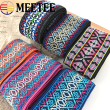 3Meter 5-6cm Elastic Band Ethnic Style Jacquard Decorative Waist Rope Tapes DIY Sewing Material Clothing Bag Accessories