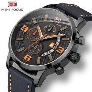 Image 1 - Mini Focus Sport Horloge Voor Mannen Luxe Casual Chronograaf Horloges Quartz Heren Horloge Lederen Top Merk Luxe Militaire