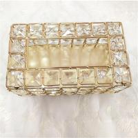 Crystal Tissue Box European American Style Tray Innovative Napkin Storage Box For Living Room Sample Room Car Quick Delivery