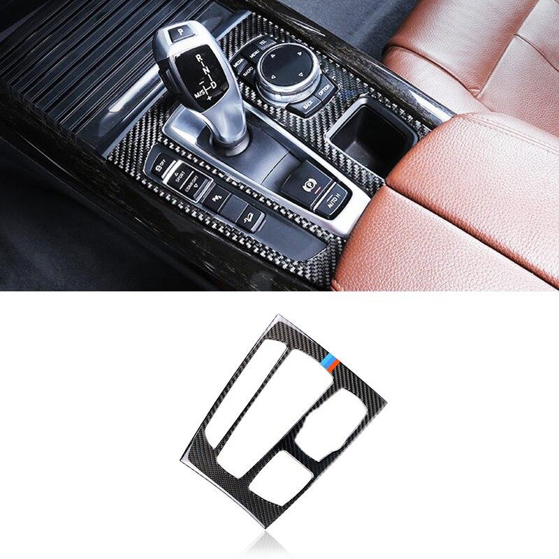Image 2 - Для BMW X5 X6 F15 F16 2014 2015 2016 2017 углеродного волокна автомобиля Шестерни переключения Панель рамка Обложка-in Лепнина для интерьера from Автомобили и мотоциклы