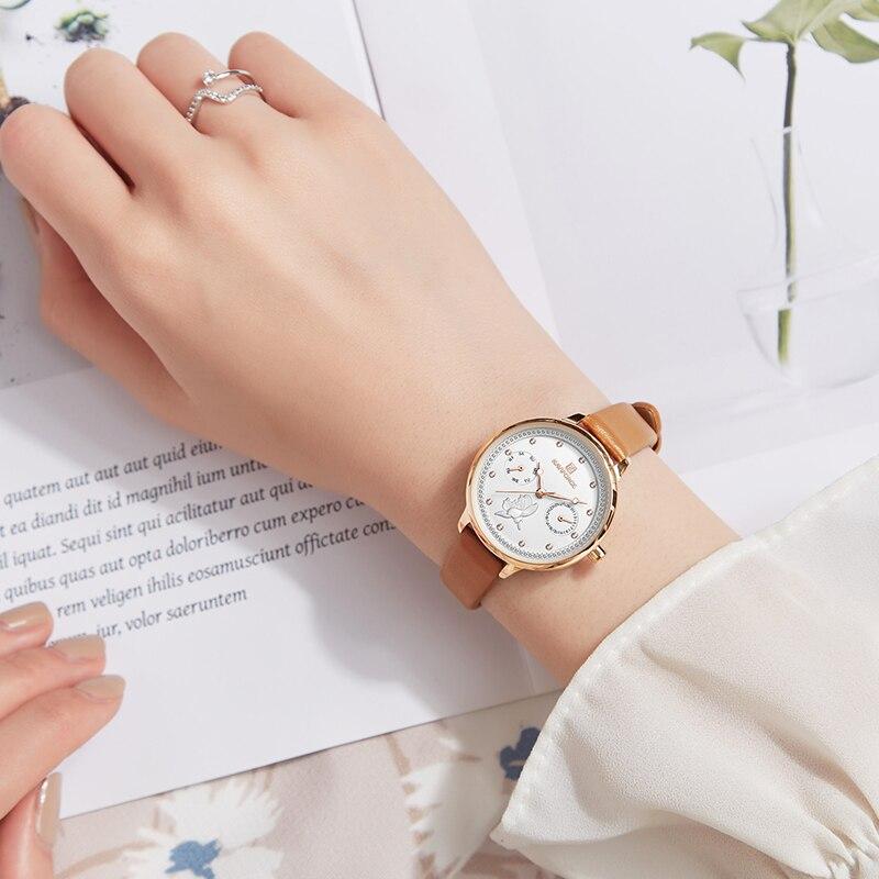 NAVIFORCE Quartz Ladies Watch Brand Luxury Women Watches Rose Fashion Elegant Wrist Watch Waterproof Clock Gift