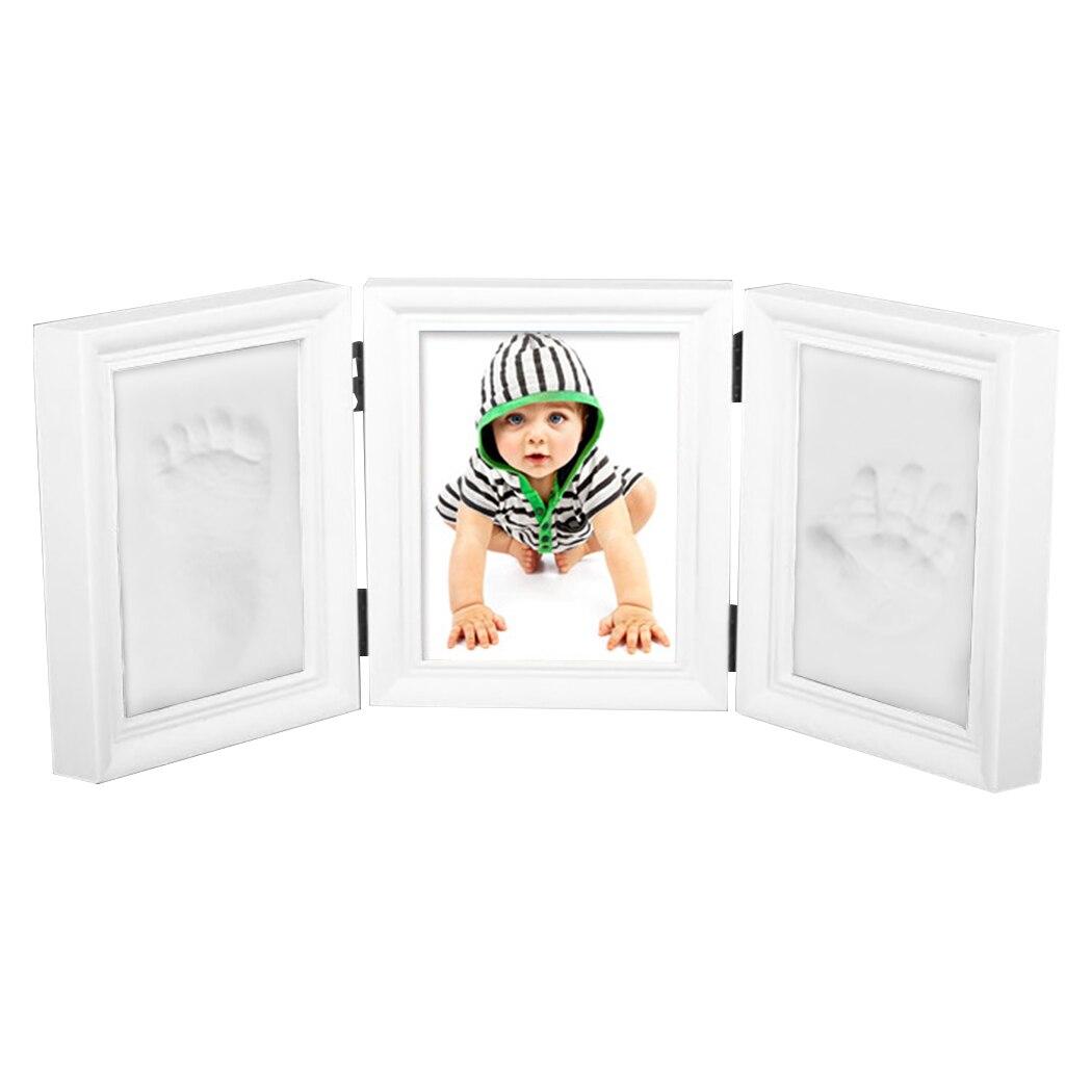 Kit empreinte bébé mémorable argile cadre Photo pliable bébé Handprint bébé souvenir cadre maison enfants décoration commémorative