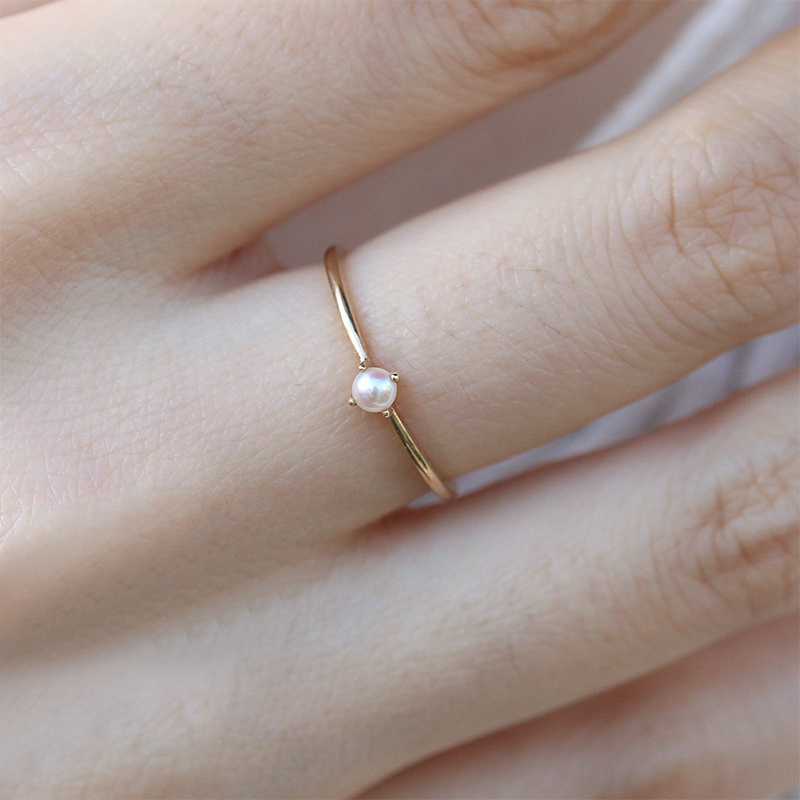 Simple Beautiful 1PC Opal Ring Unique Women Graceful Party Wedding Bride Pearl Hot Sale Size 6 7 8 9 10 Gold Exquesite