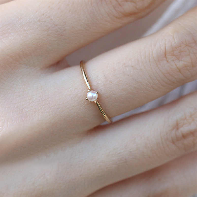 Simple Beautiful 1PC Opal Ring Unique Women Graceful Party Wedding Bride Pearl Hot Sale Size 6 7 8 9 10 Gold Exquesite