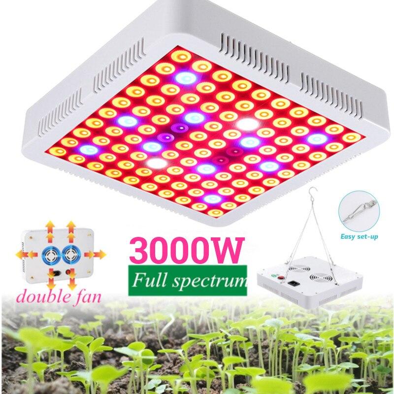 3000 W a mené la led à spectre complet croissante de plante de panneau de lampe élèvent la lumière pour le VEG et la floraison élèvent la tente hydroponique d'intérieur de jardin