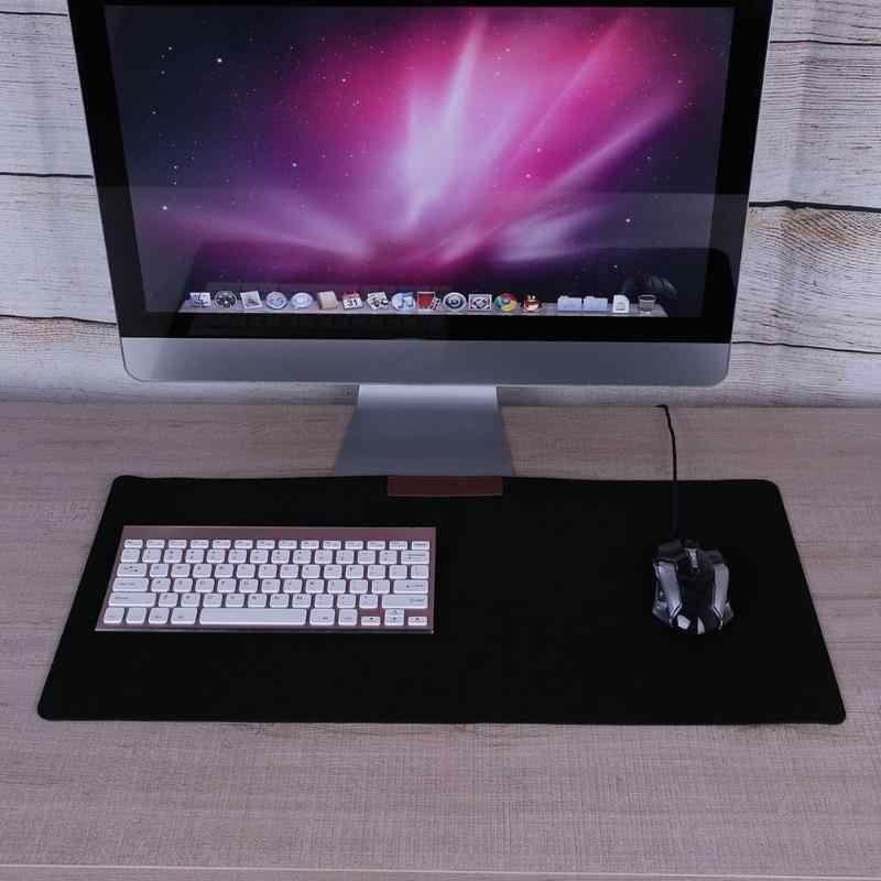 630*330*3 Mm Table Mat Hangat Sederhana Meja Kantor Komputer Mouse Pad Meja Keyboard Permainan Mouse Mat XL Besar Game Bantalan Hitam