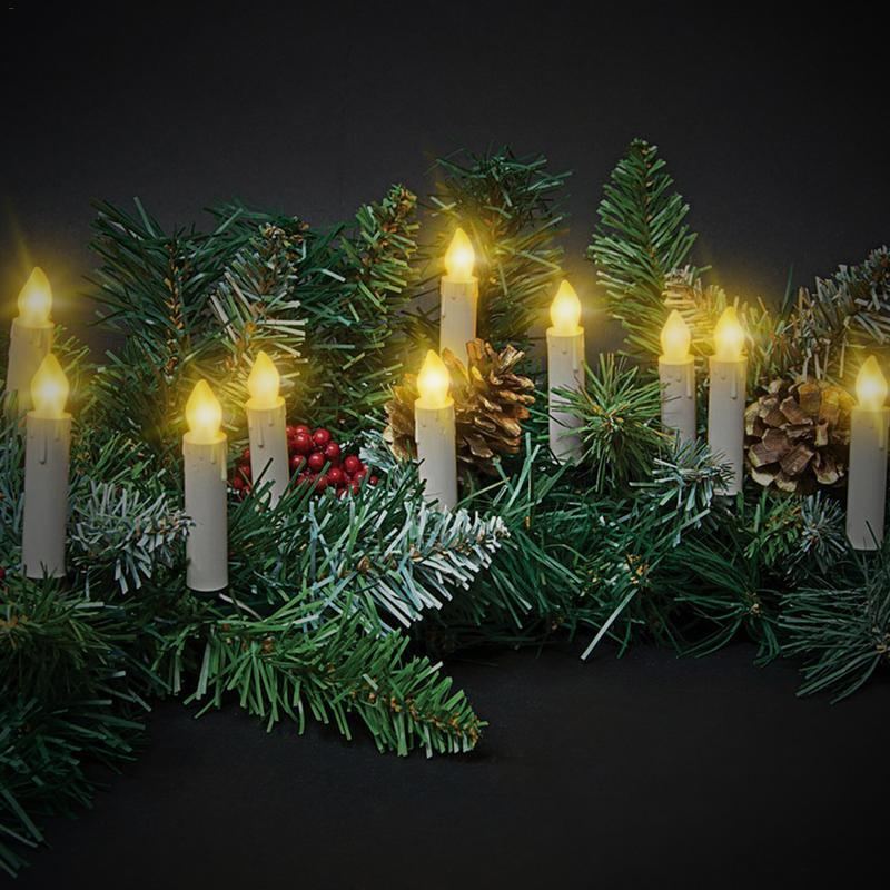 Christmas Decoration Security LED Remote Control Lights Christmas Tree Decoration Lights Candles Bedroom Decoration