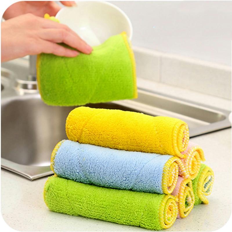 Waschen Tücher Micro Faser Handtuch Küche Tuch 1 Pc Saugfähigen Mikrofaser Handtuch Home Küche Waschen Sauber Tuch 25*15cm Sauber