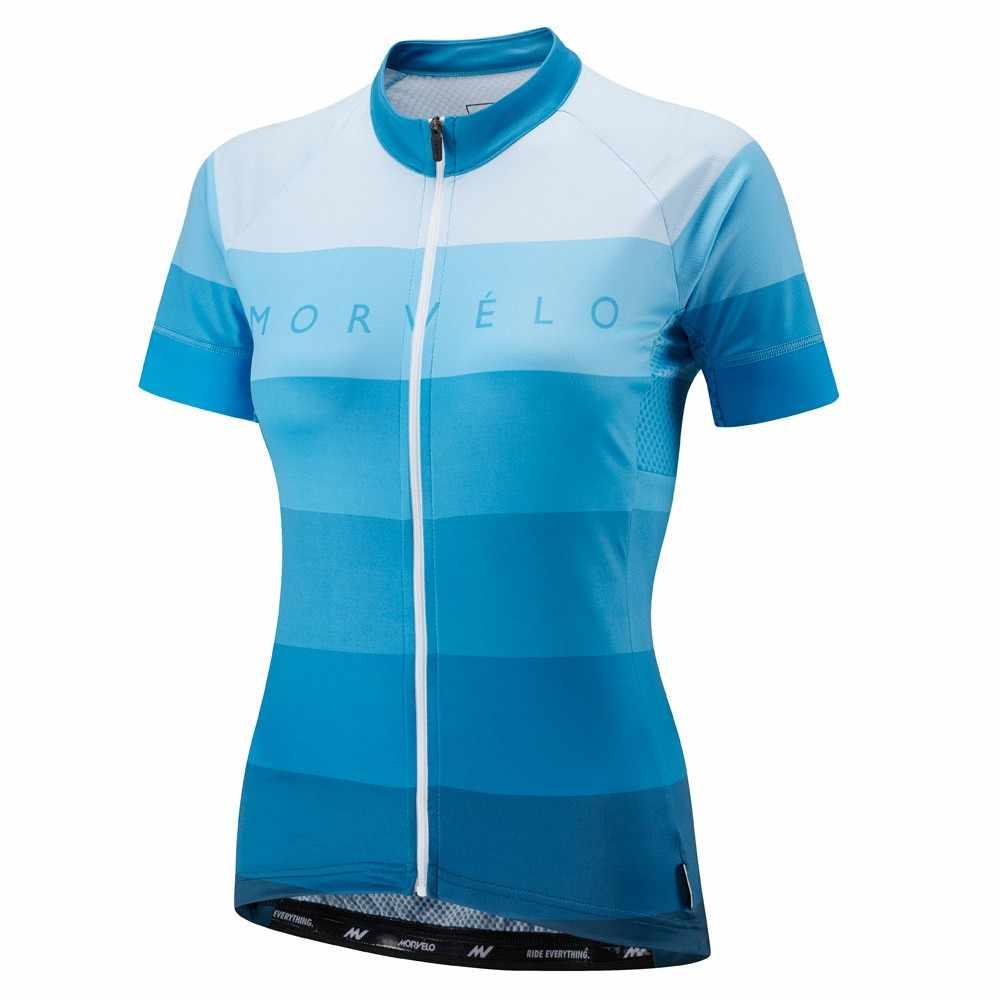 2018 Morvelo נשים של בנות קיץ קצר שרוול אופניים רכיבה על אופניים ג 'רזי כביש MTB אופני חולצה חיצוני ספורט Ropa ciclismo בגדים