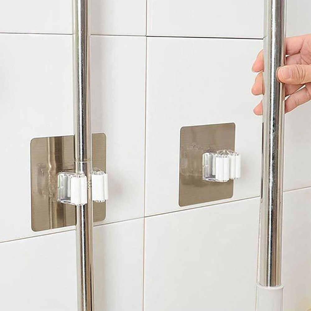 Wand Montiert Aufhänger Abnehmbare Montiert Mopp Clip für Werkzeuge Regal  für Badezimmer Organizer Mopp Klemme