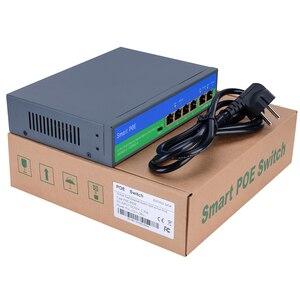 Image 3 - Yiispo interruptor de rede poe, ethernet com 4 + 2/8 + 2 portas 10/100mbps portas ieee 802.3 af/at saída padrão poe 48v para câmera poe
