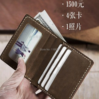 DIY leather craft card holder photo frame position folded wallet die cutting knife mould hand machine punch tool template