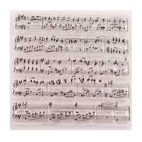 Music Notes Symbol Patterns Transparent Clear Silicone Stamp for Seal DIY Scrapbooking Photo Album Decorative Clear Stamp Sheets