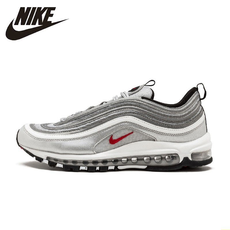 Nike Air Max 97 Og Qs New Arrival Women's Breathable Running Shoes Outdoor Sports Low-top Air Cushion Sneakers #885691-001
