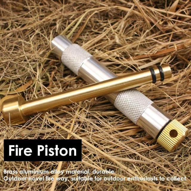 Notfall Feuer Starter Kolben Luft Komprimiert Feuer Maker Rohr Outdoor Survival Tool Camping Wandern Instant