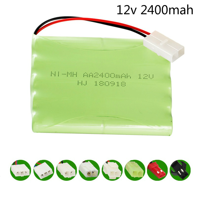 (H model) <font><b>12v</b></font> 2400mah NIMH <font><b>Battery</b></font> <font><b>12v</b></font> Ni-MH <font><b>battery</b></font> <font><b>pack</b></font> for RC toy Car Boat GUN TANK Truck Trains RC toy model <font><b>AA</b></font> <font><b>Battery</b></font> 1pcs image
