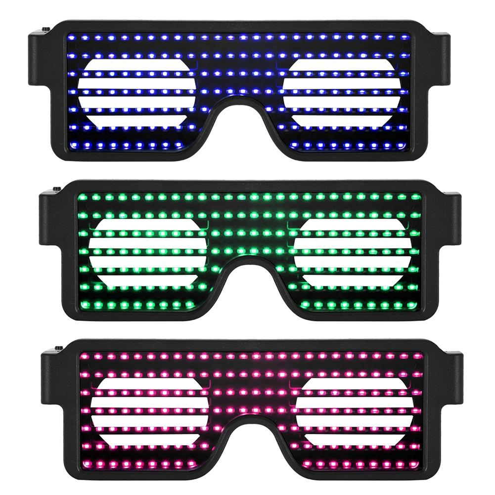Dynamic Colorful LED Light Eyeglass Decorative Glasses With 8 Modes For Dancing Party