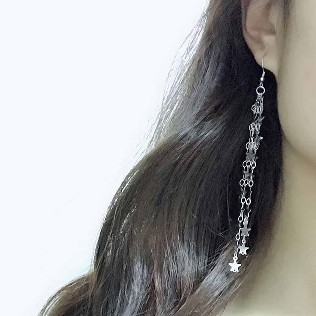 Fünf-Stern Quaste Frauen Ohrring Mode Mädchen Ohr Haken Charming Damen Ohr Anhänger Zarte Mädchen Schmuck Geschenk