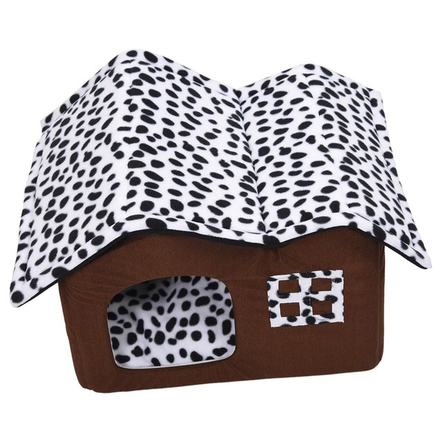 Hot Removable Dog Beds Double Pet House Brown Dog Room Cat Beds Dog Cushion Luxury Pet Products 55 x 40 x 42 cm 2