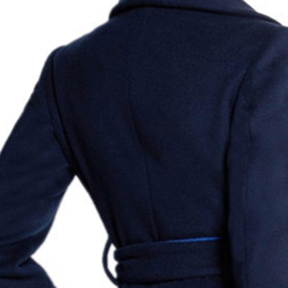 Bleu Up Survêtement Manteau Élégant Laine Long Vintage Mode Western Coupe Dentelle Hiver Femmes Slim Chaud vent Dames Simple R7YPAnvxn