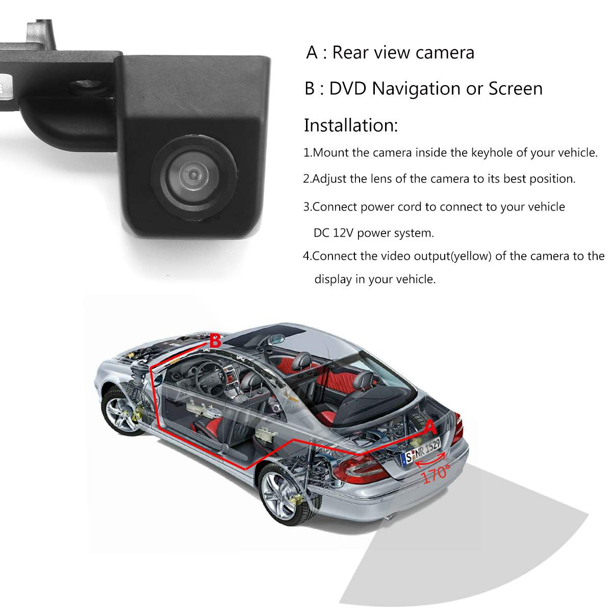 lowest price HD Car 170 Degree Wide Angle Reverse Backup Rear View Camera For VW Transporter T5 T30 for Caddy Passat B5 For Touran Jetta