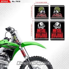 KUNGFU GRAFISCHE MX Stickers Vinyl Decal Kit voor Voorvork Guards Fit Yamaha Kawasaki Honda Suzuki Crossmotor Metal Mulisha 4 Pcs(China)