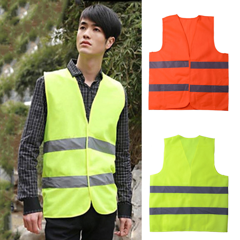 Reflective Safety Visibility Vest Green Red Night Running Walking Warning Clothes   Tank     Tops   V-Neck Sanitation Worker Shirts