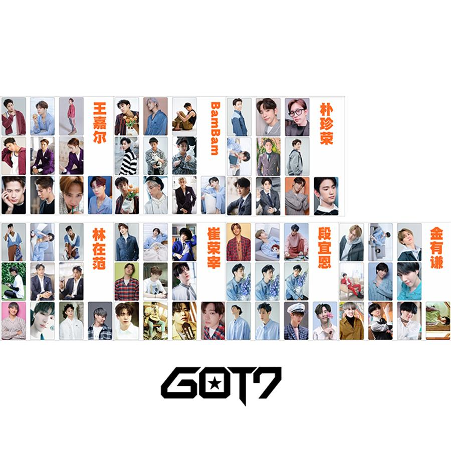 You Photo Stikcy Card Bambam Mark Photocard Stickers Photograph 10pcs/set Refreshment Beads & Jewelry Making Jewelry Findings & Components Kpop Got7 Members Present