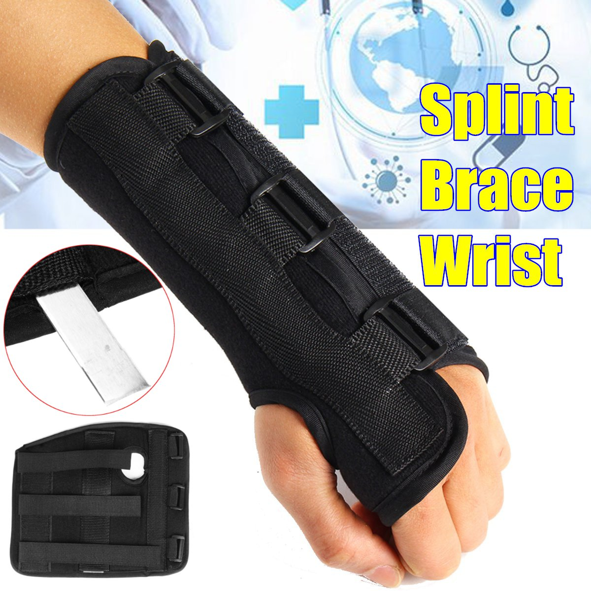 Brace Protector Support-Pads Band-Strap Forearm Splint Carpal Tunnel Medical-Wrist-Support