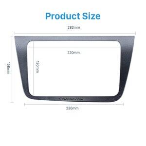Image 3 - Seicane 2 DIN Car Radio Fascia Dash Trim Kit For 2004+ SEAT Altea Toledo LHD  220*130mm Stereo DVD Player refitting Frame