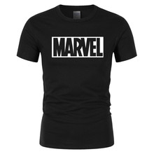 2019 New Arrival Fashion MARVEL t-Shirt men cotton short sleeves Casual male tshirt marvel t shirts tops tees Free shipping