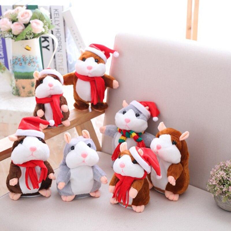 Dropshipping Promoção de 15 cm Doce Repita Falar hamster Gravação de Som Falando de Pelúcia hamster kawaii animal Brinquedos