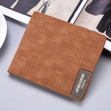 Short Purse male Fashion Casual Canvas Wallet Ultra-thin Soft Noodle Business Mens Credit Card Holder Small