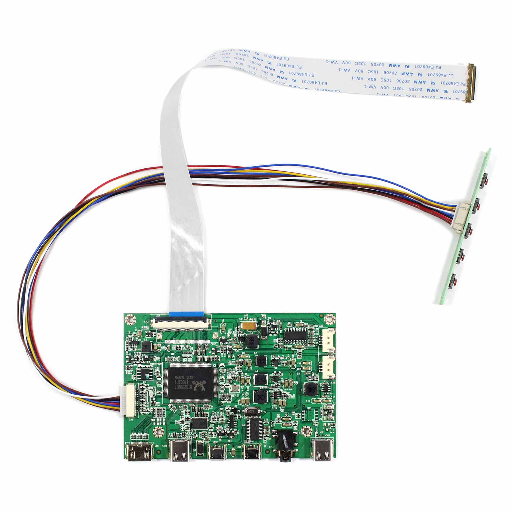 HDMI Type C Control Board Work For 30Pin 1920x1080 EDP LCD  N116HSE-EA1/EA2/EJ1/EB1  N133HSE-EA1/EA3/EB1 /EB3 B140HAN01.0/1/2/3