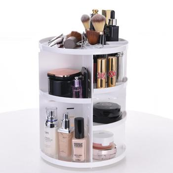 Adeeing Maquillage Organisateur 360 Degrés Rotation Cosmétique Boîte De Rangement Bijoux Boîte étui De Rouge à Lèvres