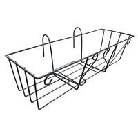1 Pc Railing Balcony Deck Hanging Planter Container Flower Pot Holder Box Stand Rack Bracket Shelf for Patio