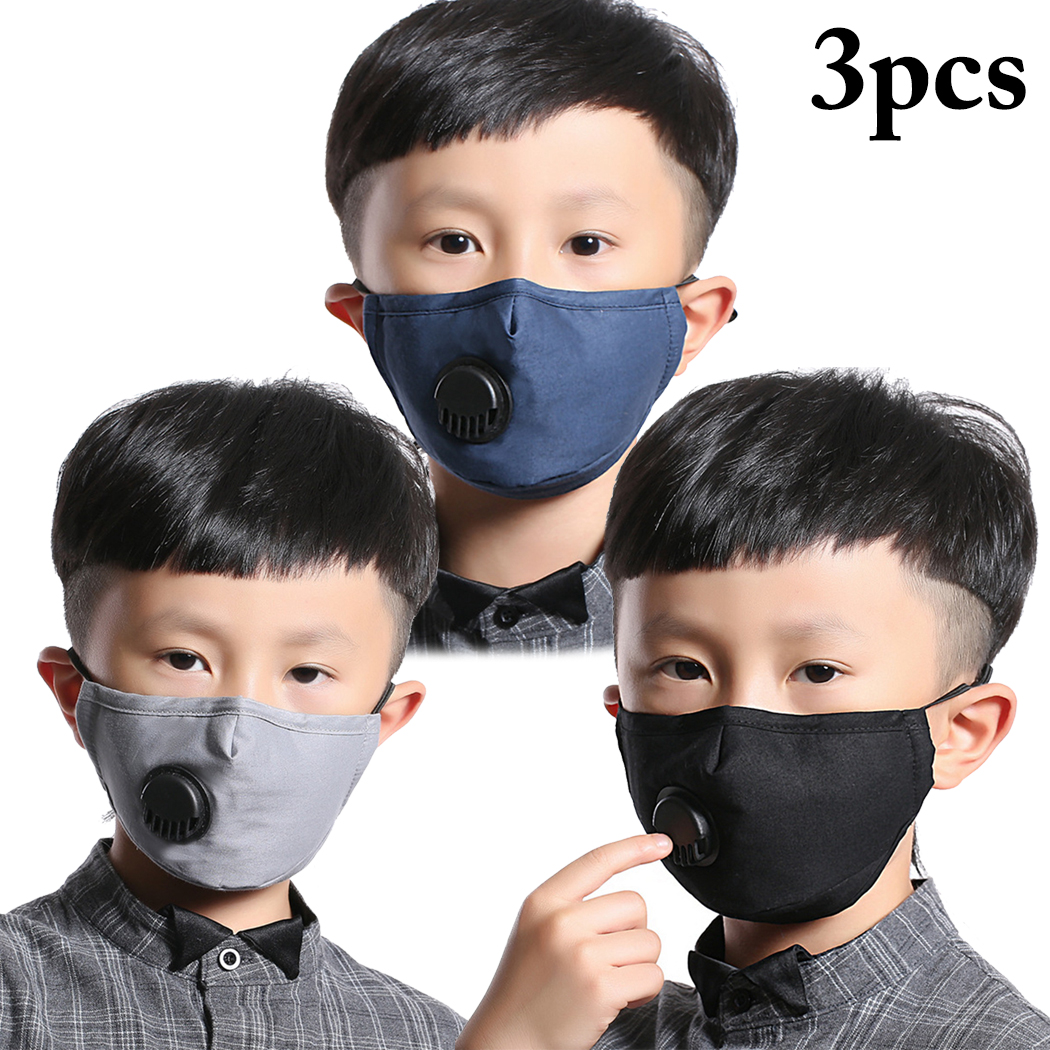 3PCS Kids Children Unisex Mouth Masks Dust Proof Breathable Mouth Covers Anti Dust Mouth Mask Face Cover Soft Cotton
