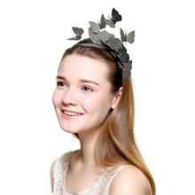Dancing Butterfly Novelty Headband New Creative Color Solid Party Show Hair Accessories