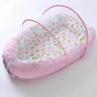 New Hot Baby Bassinet for Bed Lounger Breathable Hypoallergenic Cotton Portable Crib for Bedroom Travel Dropshipping